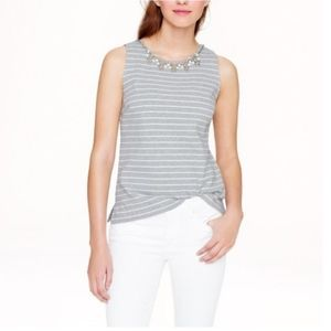 J. Crew Striped Necklace Shell Tank